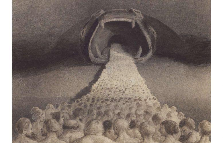 Alfred Kubin, Ins Unbekannte, 1900/01 (© Leopold Museum, Wien, Foto: Leopold Museum, Wien/Manfred Thumberger © Eberhard Spangenberg/Bildrecht, Wien, 2021)