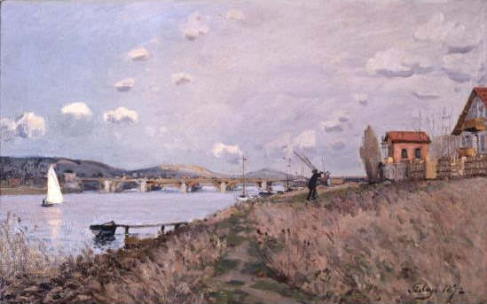 Alfred Sisley, Die Brücke in Argenteuil, 1872, Öl auf Leinwand, 38.7 x 61 cm (Memphis Brooks Museumn of Art, Gift of Mr. and Mrs. Hugo N. Dixon)