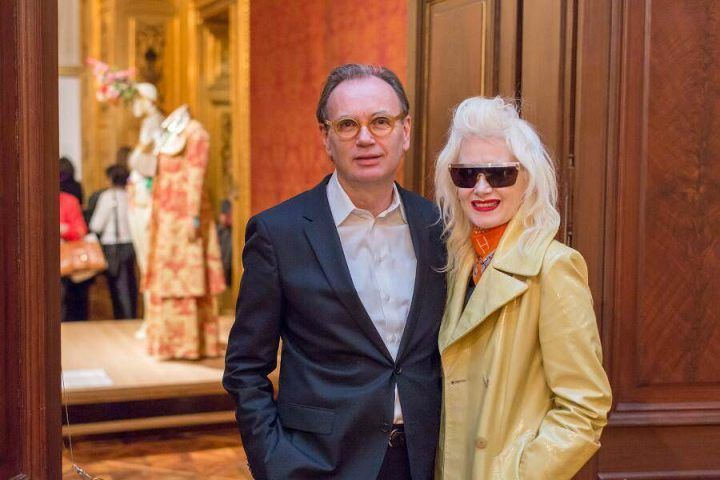 Alfred Weidinger mit Pam Hogg, Foto: © Ouriel Morgensztern, Belvedere, Wien.