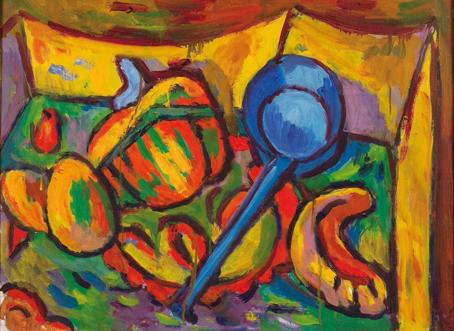 Alfred Wickenburg, Burgenländisches Stillleben II, 1968, Öl auf Leinwand, 52,5 x 69 cm (© Belvedere, Wien/Leihgabe aus Privatbesitz, New York/ © Henriette Gorton-Wickenburg 2016)