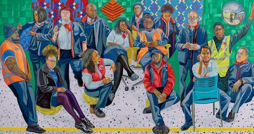 Aliza Nisenbaum, London Underground: Brixton Station and Victoria Line Staff 2018/19 (Courtesy the artist and Art on the Underground, London; Mary Mary, Glasgow; Anton Kern Gallery, New York / © Aliza Nisenbaum)