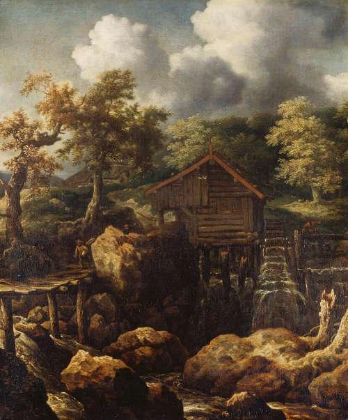Allaert van Everdingen, Waldlandschaft mit Wassermühle, um 1655, Öl auf Leinwand (Wallraf-Richartz-Museum & Fondation Corboud)