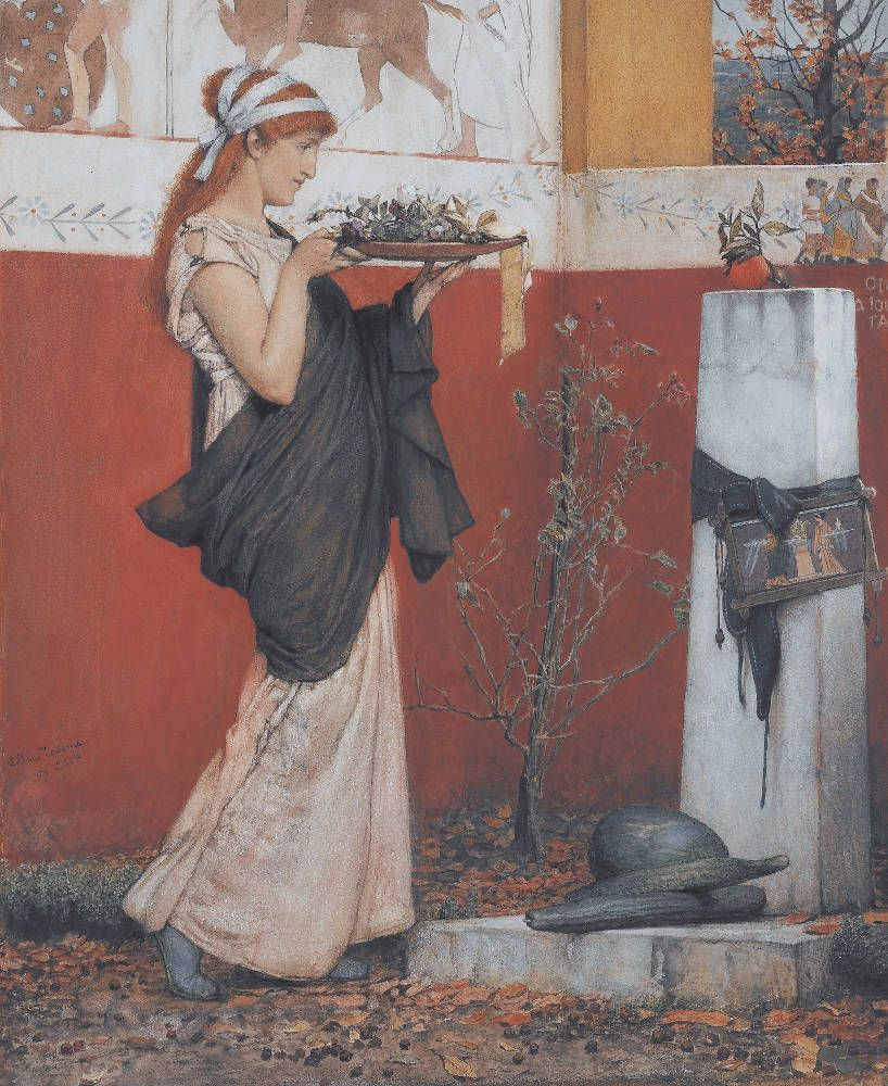 Lawrence Alma-Tadema, A Votive Offering, 1873, Aquarelle auf Papier, 47,3 x 39,4 cm (Lady Lever Art Gallery, National Museums Liverpool, Foto © Courtesy of National Museums Liverpool, Lady Lever Art Gallery)