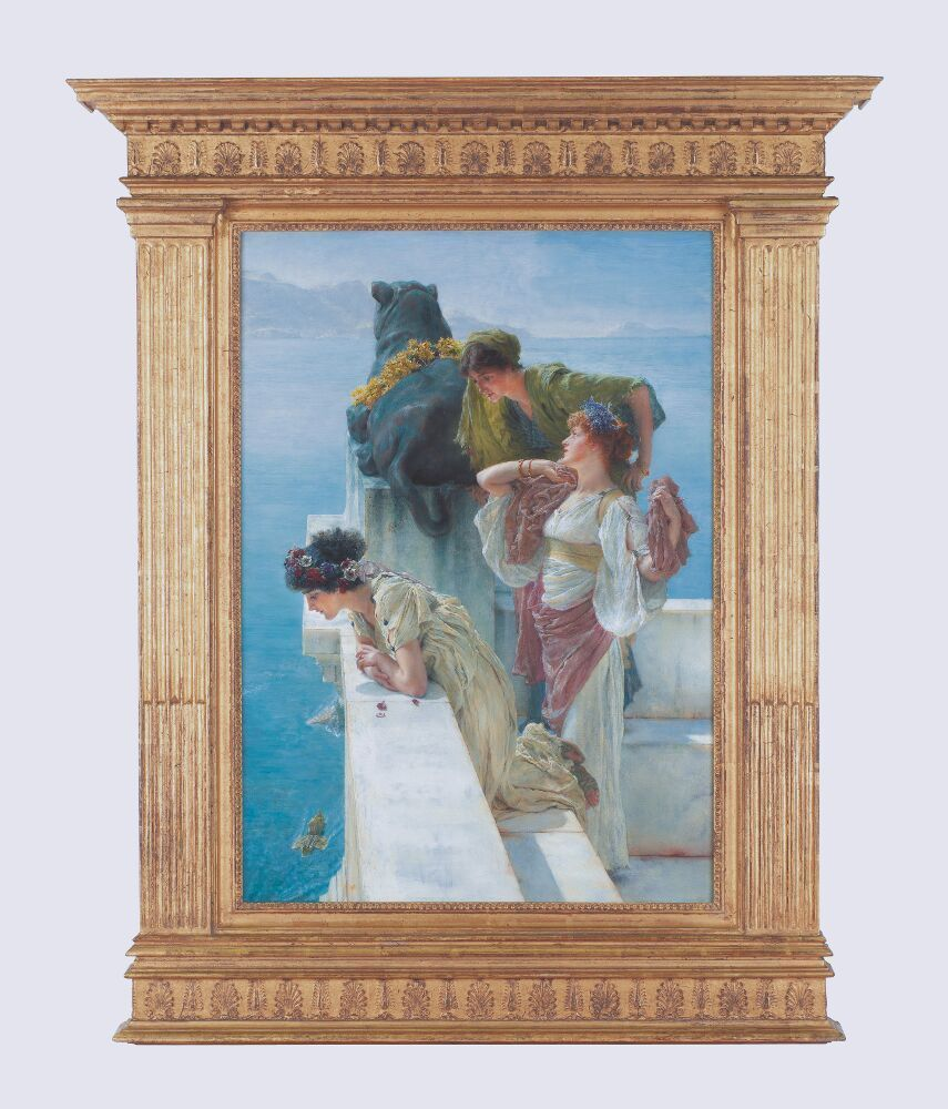 Lawrence Alma-Tadema, Coign of Vantage, 1895, Öl auf Leinwand, 64 x 44,5 cm (Collection of Ann and Gordon Getty, Foto © Collection of Ann and Gordon Getty)