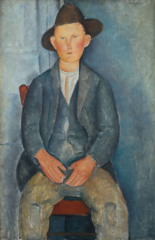 Amedeo Modigliani, Der kleine Bauer, um 1918, Öl/Lw, 100 x 64,5 cm (Tate, presented by Miss Jenny Blaker in memory of Hugh Blaker 1941)