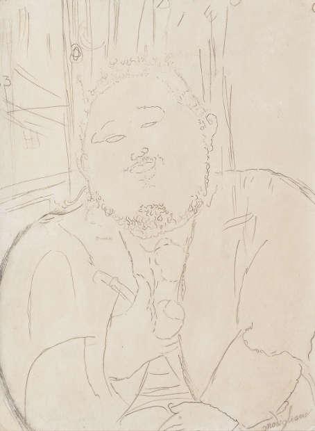 Amedeo Modigliani, Diego Rivera, 1914, Bleistift auf Papier (© Privatsammlung)