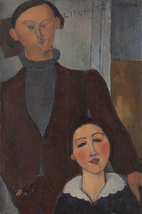 Amedeo Modigliani, Jacques und Berthe Lipchitz, 1916, Öl/Lw, 81,3 x 54,3 cm (The Art Institute of Chicago)