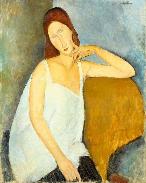 Amedeo Modigliani, Jeanne Hébuterne, 1919, Öl/Lw, 91,4 x 73 cm (The Metropolitan Museum of Art, New York)