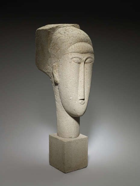 Amedeo Modigliani, Kopf, 1911–1912 (Minneapolis Institute of Art, Gift of Mr. and Mrs. John Cowles, 62.73.1 © Minneapolis Institute of Art)