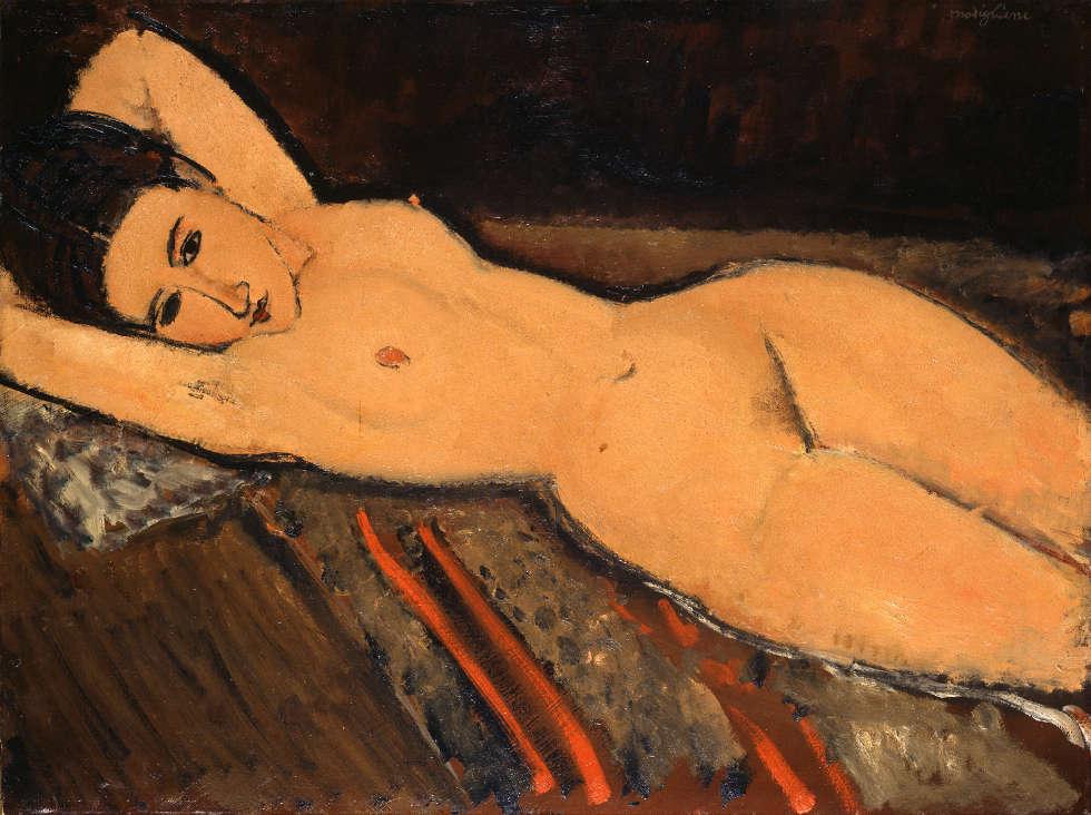 Amedeo Modigliani, Liegender Akt, 1916, Öl/Lw, 65,5 x 87 cm (© Sammlung Emil Bührle, Zürich, Foto: SIK-ISEA, Zürich (J.-P. Kuhn)