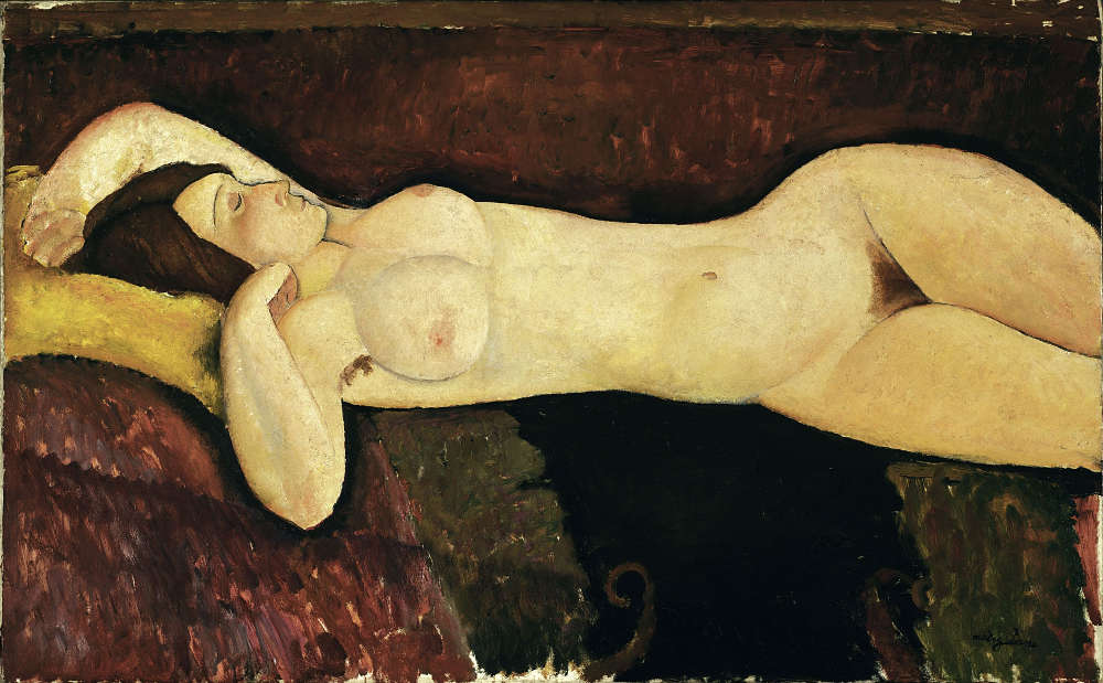Amedeo Modigliani, Liegender Akt, 1919, Öl/Lw, 72,4 x 116,5 cm (Museum of Modern Art, New York)