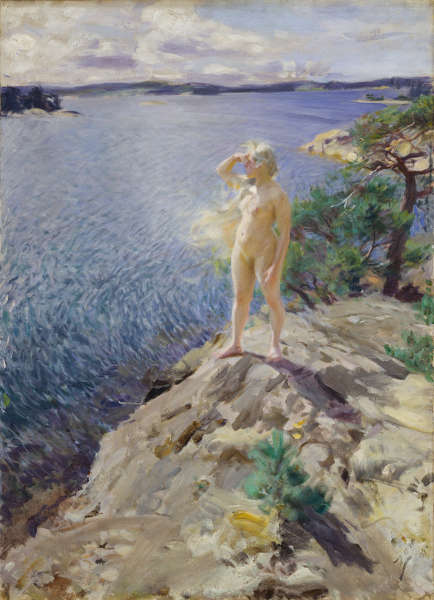 Anders Zorn, In den Schären, 1894, Öl/Lw, 125,5 x 90,5 cm (Schwedisches Nationalmuseum, Stockholm)