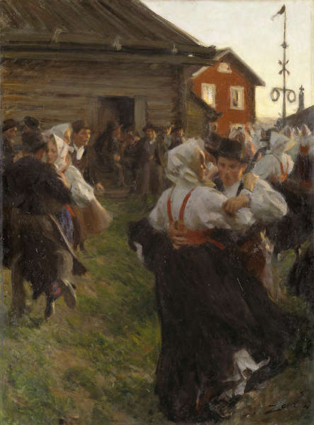 Anders Zorn, Mitsommer Tanz, 1897, Öl/Lw, 140 x 98 cm (Nationalmuseum, Stockholm)