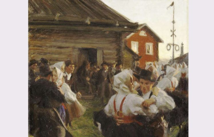 Anders Zorn, Mitsommer Tanz, Detail, 1897, Öl/Lw, 140 x 98 cm (Nationalmuseum, Stockholm)