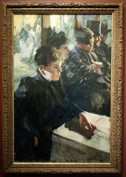 Anders Zorn, Omnibus, 1891/92, Öl/Lw, 99,5 x 66 cm (Schwedisches Nationalmuseum, Stockholm)