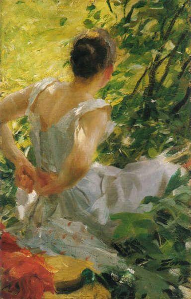 Anders Zorn, Sich anziehende Frau, 1893, Öl/Lw, 56 x 38 cm (Privatsammlung)