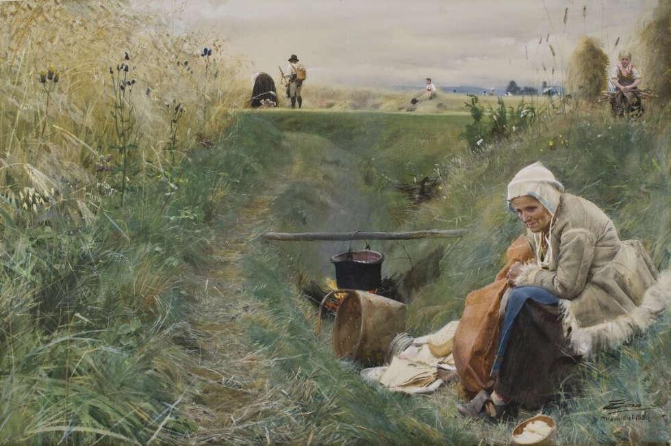 Anders Zorn, Unser täglich Brot, September 1886, Aquarell, 68 x 102 cm (Nationalmuseum, Stockholm)