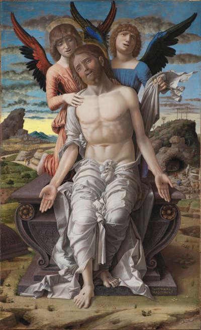 Andrea Mantegna, Christus als Schmerzensmann, um 1495–1500, Leinwand, 78 x 48 cm (© Statens Museum for Kunst, Kopenhagen)