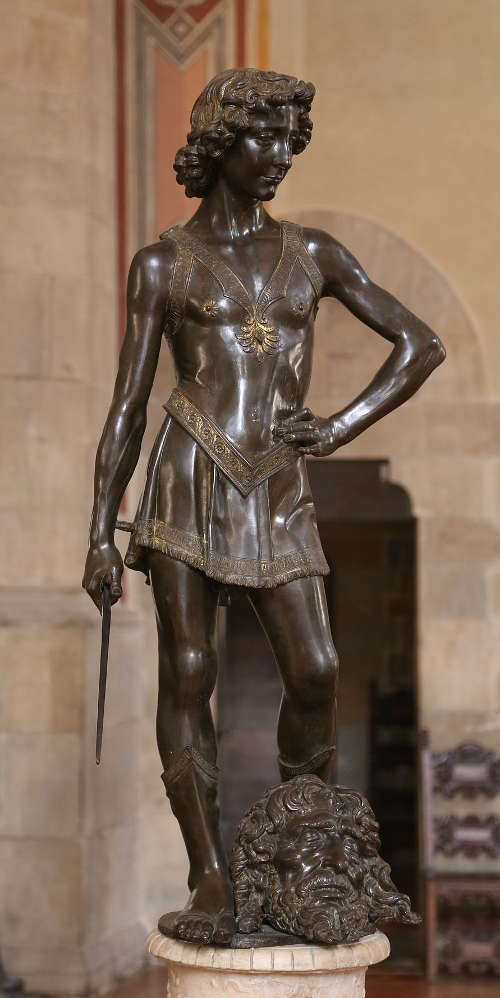 Andrea del Verrocchio, David, Bronze (Bargello)
