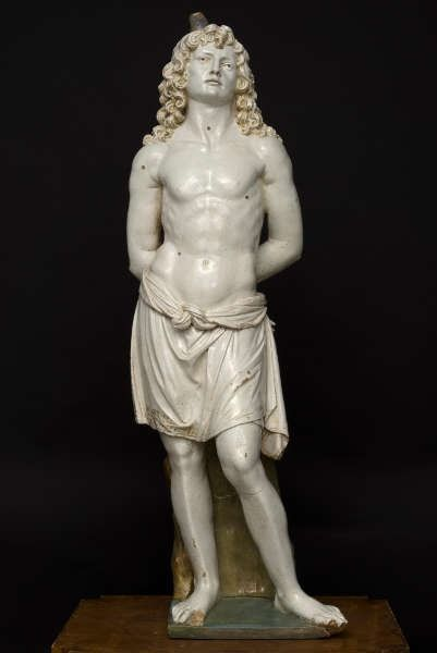 Andrea della Robbia und Luca della Robbia d.J., Hl. Sebastian (Montalcino, Museo municipale e diocesano d'Art sacra Marco Brancatelli)