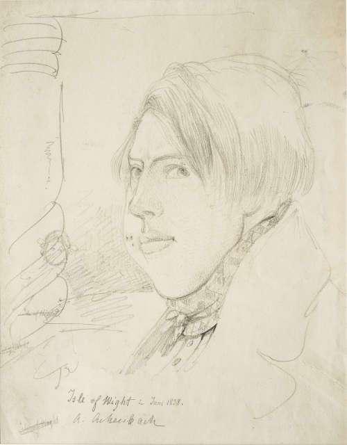Andreas Achenbach, Selbstbildnis mit dicker Backe, Isle of Wight 1838, Bleistift, Privatsammlung © Museum LA8 Baden-Baden