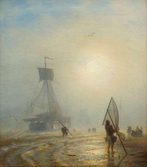 Andreas Achenbach, Twilight, 1859, Öl auf Leinwand, Privatsammlung © Museum LA8 Baden-Baden