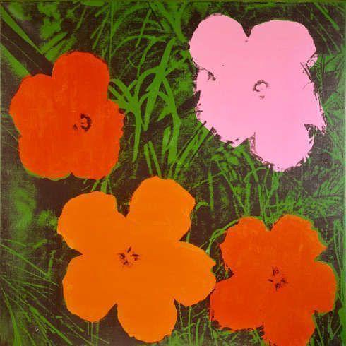 Andy Warhol, Four-Foot Flowers, 1964, 122,2 x 122,2 cm, Acryl und Siebdruck auf Leinwand (Heidi Horten Collection, © The Andy Warhol Foundation for the Visual Arts, Inc. / Licensed by Bildrecht, Wien, 2018)