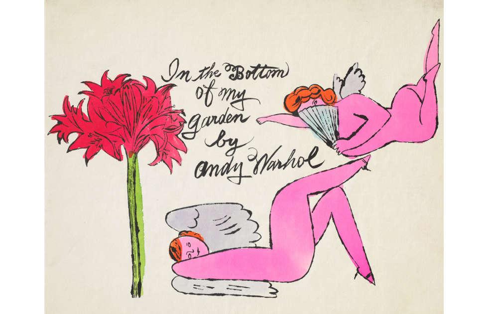 Andy Warhol, In the Bottom of My Garden, um 1956 (Udo und Anette Brandhorst Stiftung, Foto: Haydar Koyupinar, Courtesy Bayerische Staatsgemäldesammlungen – Museum Brandhorst München, © The Andy Warhol Foundation for the Visual Arts, Inc./ Licensed by Bildrecht, Wien, 2018)