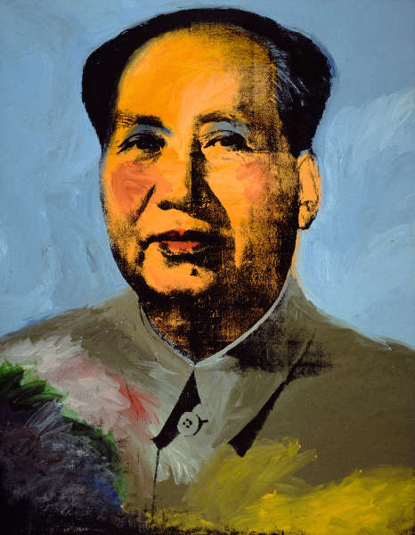 Andy Warhol, Mao, 1972, Acryl, Siebdruck, Graphit/Lw, 448 x 347 cm (The Art Institute of Chicago; Mr. and Mrs. Frank G. Logan Purchase Prize and Wilson L. Mead funds, 1974.230 © The Andy Warhol Foundation for the Visual Arts, Inc. / Artists Rights Society (ARS) New York)