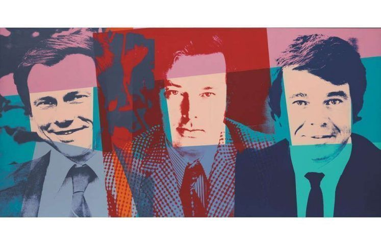Andy Warhol, The Three Gentlemen, 1982 . Acryl/Siebdruck/Leinwand, 101,8 x 203,4 cm (Museum Frieder Burda, Baden-Baden © The Andy Warhol Foundation for the Visual Arts, Inc./Licensed by Artists Rights Society (ARS), New York)