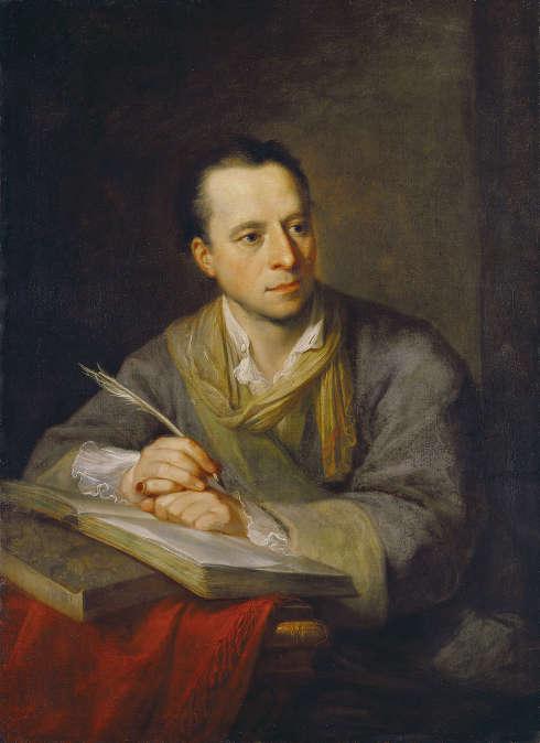 Angelika Kauffmann, Bildnis Johann Joachim Winckelmann, 1764, Öl auf Leinwand (Kunsthaus Zürich)