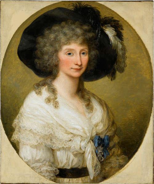 Angelika Kauffmann Porträt der Freifrau von Bauer, 1786, Öl auf Leinwand, 76 x 64 cm (Staatsgalerie Stuttgart © bpk Staatsgalerie Stuttgart)