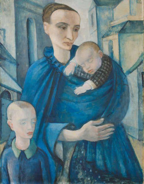 Anita Rée, Blaue Frau, vor 1919, Öl/Lw, 90 x 69 cm (Privatbesitz, Foto: Christoph Irrgang)