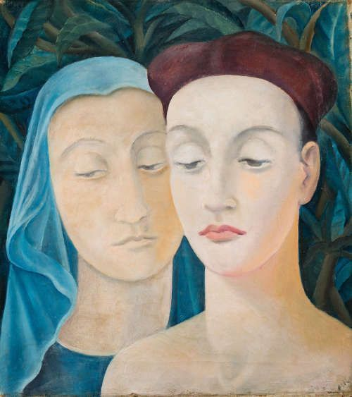 Anita Rée, Paar (Zwei römische Köpfe), 1922–1925, Öl/Lw, 51 x 45,5 cm (Privatbesitz USA, Foto: Christoph Irrgang)