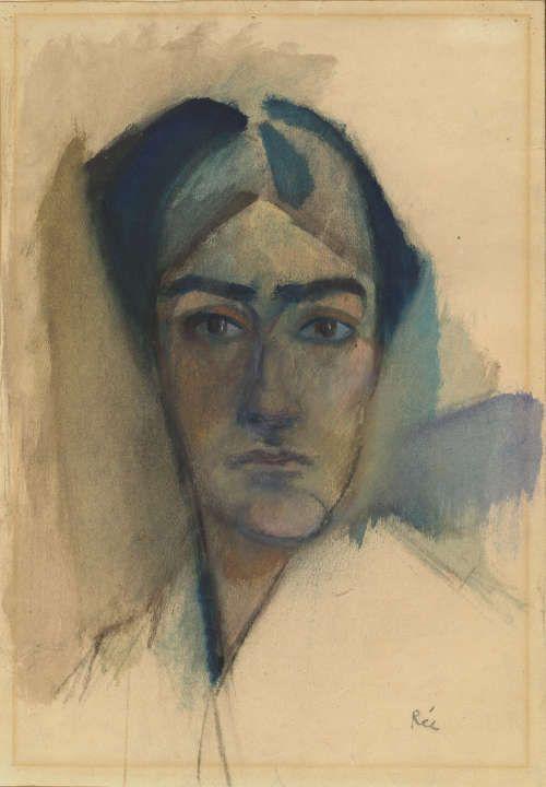Anita Rée, Selbstbildnis, um 1913, Kohle und Aquarell, 44,5 x 32 cm (© Hamburger Kunsthalle / bpk, Foto: Christoph Irrgang)