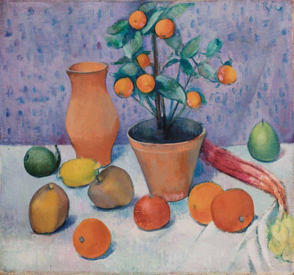 Anita Rée, Stillleben mit Orangenbaum, vor 1920, Öl/Lw, 61 x 65,2 cm (Privatbesitz, Foto: Christoph Irrgang)