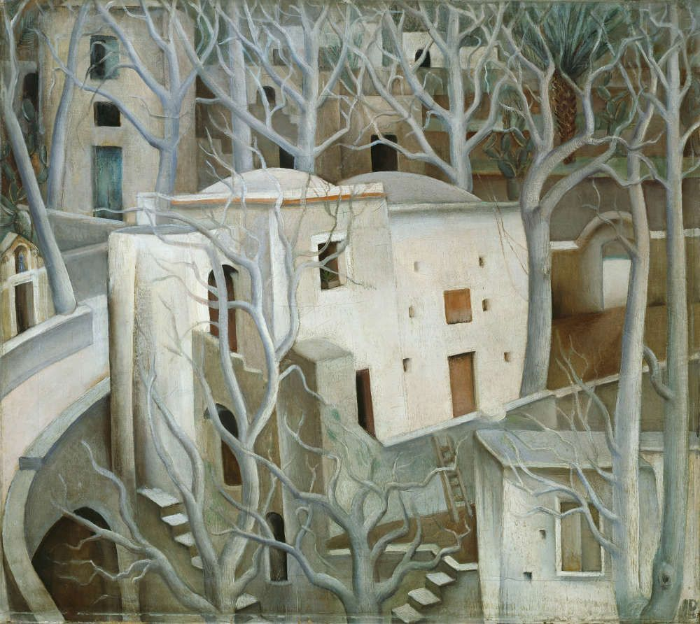 Anita Rée, Weiße Nussbäume, 1922–1925, Öl/Lw, 71,2 x 80,3 cm (© Hamburger Kunsthalle / bpk, Foto: Elke Walford)