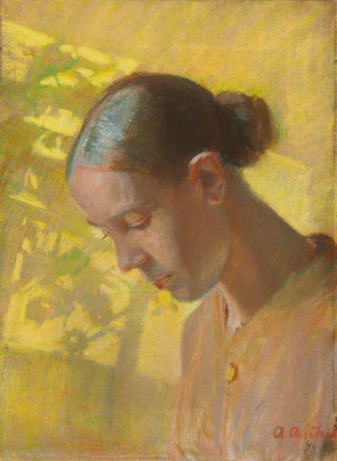 Anna Ancher, Studie der Näherin, Kopf, 1890 (The Art Museums of Skagen)