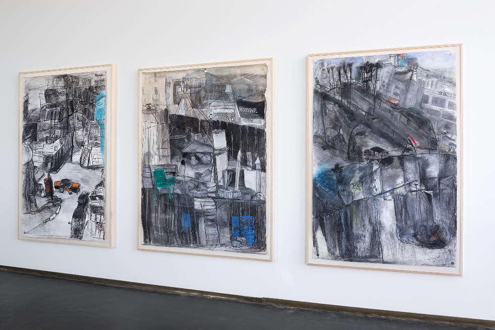 Anna Boghiguian, Alexandria, 2003, Ausstellungsansicht Castello di Rivoli Museo d'Arte Contemporanea, Rivoli-Turin, 2017, Foto: Renato Ghiazza