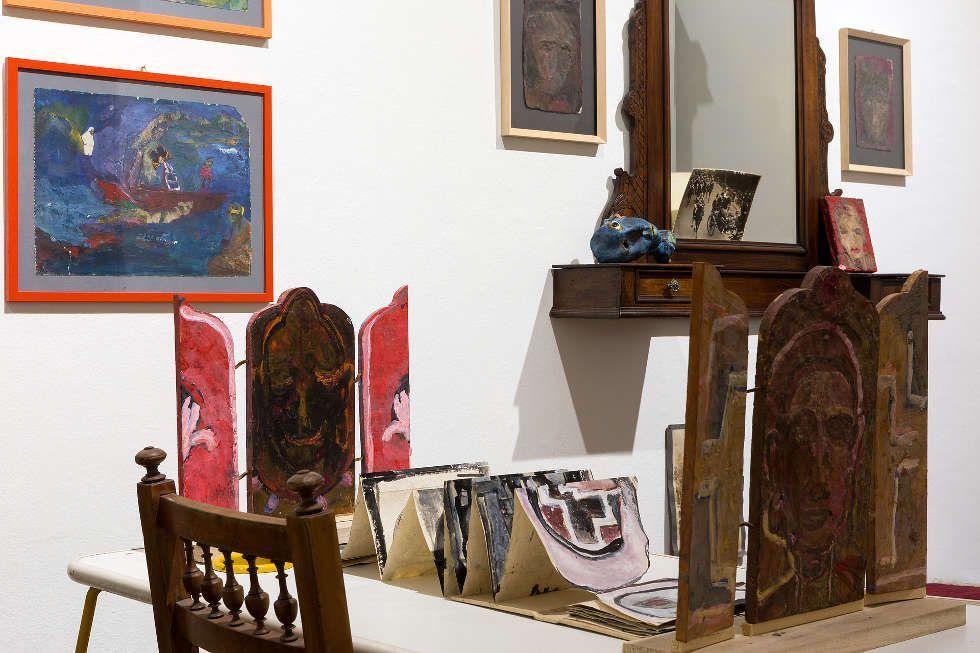 Anna Boghiguian, The Studio, 2017, Ausstellungsansicht, Castello di Rivoli Museo d'Arte Contemporanea, Rivoli-Turin, 2017, Courtesy die Künstlerin, Foto: Renato Ghiazza