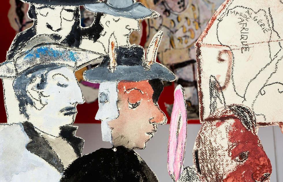 Anna Boghiguian, Un toute petite histoire de Nîmes, Detail, 2016, Ausstellungsansicht Castello di Rivoli Museo d'Arte Contemporanea, Rivoli-Turin, 2017, Courtesy die Künstlerin, Foto: Renato Ghiaz