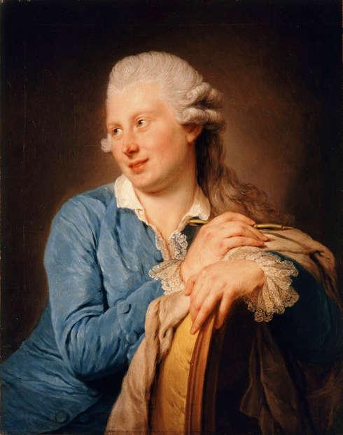 Anna Dorothea Therbusch, Porträt des Malers Philipp Hackert, 1768, Öl auf Holz (Gemäldegalerie der Akademie der bildenden Künste Wien, Inv.-Nr. GG-113)