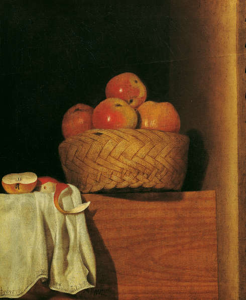 Anna Maria Punz, Stillleben mit Apfelkorb, 1754, Öl auf Leinwand, 53 x 43,5 cm (Belvedere, Wien)