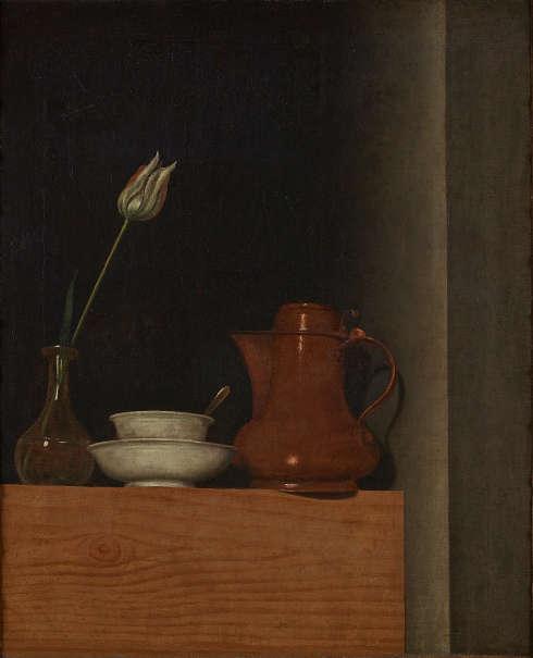 Anna Maria Punz, Stillleben mit Krug und Tulpe, 1754, Öl auf Leinwand, 53 x 43,5 cm (Belvedere, Wien)