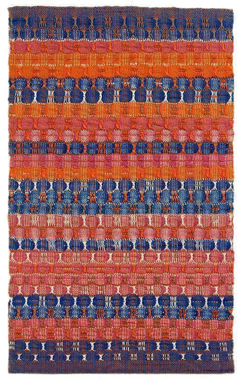 Anni Albers, Red and Blue Layers, 1954, Baumwolle, 61,6 x 37,8 cm (© 2017 The Josef and Anni Albers Foundation/Artists Rights Society (ARS), New York/DACS, London, Foto: Tim Nighswander/Imaging4Art © Kunstsammlung NRW)