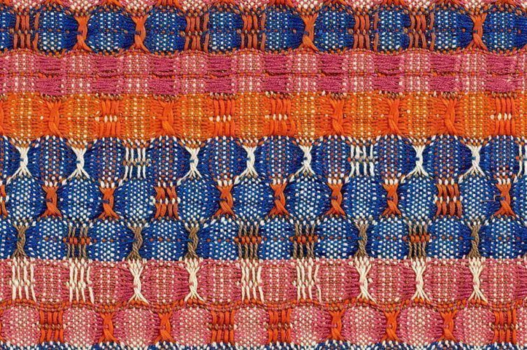 Anni Albers, Red and Blue Layers, Detail, 1954, Baumwolle, 61,6 x 37,8 cm (© 2017 The Josef and Anni Albers Foundation/Artists Rights Society (ARS), New York/DACS, London, Foto: Tim Nighswander/Imaging4Art © Kunstsammlung NRW)