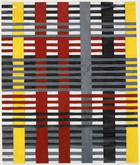 Anni Albers, Studie für eine Wandbespannung (nicht ausgeführt), 1926, Gouache, 38,1 x 24,8 cm (© 2017 The Josef and Anni Albers Foundation/Artists RightsSociety (ARS), New York/DACS, London, Foto: Tim Nighswander/Imaging4Art, © Kunstsammlung NRW)
