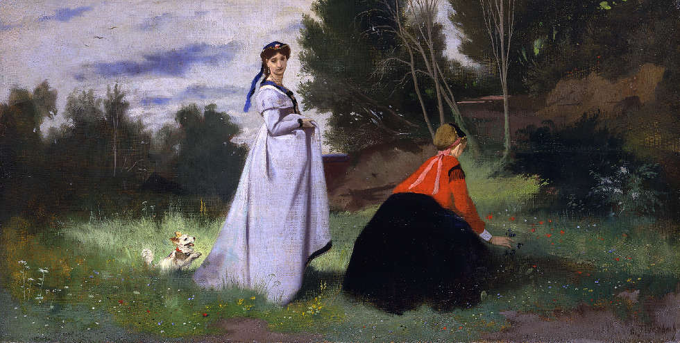 Anselm Feuerbach, Zwei Damen in der Landschaft, 1867, Öl auf Leinwand (© Staatliche Museen zu Berlin, Nationalgalerie / Jörg P. Anders)