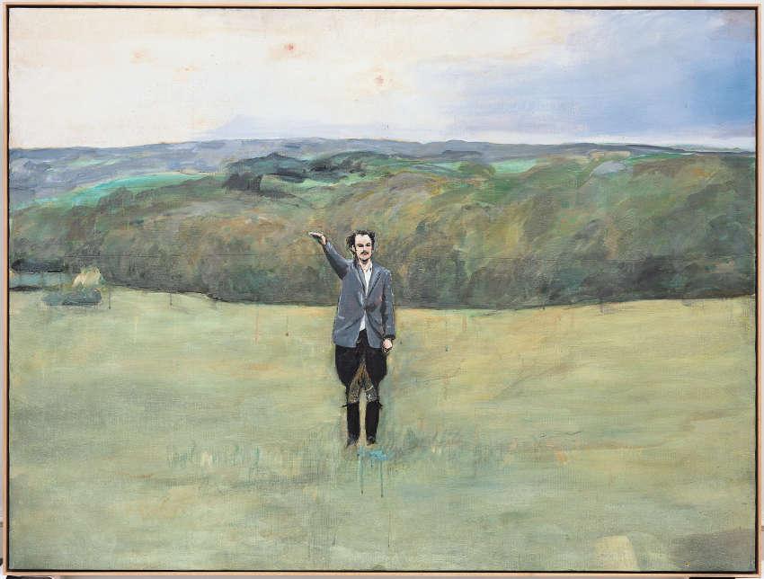 Anselm Kiefer, Heroisches Sinnbild VII, 1970, Öl/Baumwolle, 119 x 158,5 x 3,5 cm (Sammlung Worth, © Anselm Kiefer)