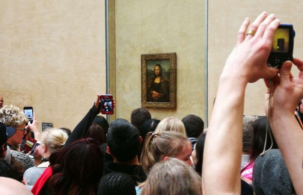 Ansturm vor der Mona Lisa, Louvre April 2018, Foto ARTinWORS